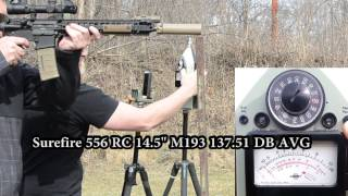 getlinkyoutube.com-Surefire Socom RC 556 Sound tested and compared to Griffin M4SD and M4SD II suppressors