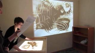 getlinkyoutube.com-2011.01.22 - Студия рисования песком СэндПРО™