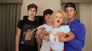 getlinkyoutube.com-Skylynn Chubby Bunny Challenge | Cameron Dallas, Nash, and Hayes Grier