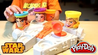 getlinkyoutube.com-Play Doh Disney Star Wars New Toys Millennium Falcon