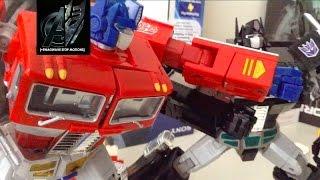 getlinkyoutube.com-Transformers Stop Motion- MP10 Optimus Prime vs Nemesis Prime Stop Motion
