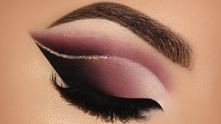 ♡ Dramatic Double Cut Crease & Touch Of Glitter Glam Makeup Tutorial | Melissa Samways ♡