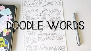 getlinkyoutube.com-Doodle with Me : Turn WORDS into Doodles!