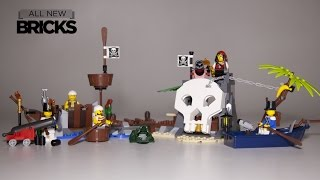 getlinkyoutube.com-Lego Pirates 70411 Treasure Island  Paired with 70409 Shipwreck Defense Speed Build Review
