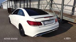 getlinkyoutube.com-Mercedes Benz C207 220CDI + Active Sound System (Sound Aktuator) Audi vs. Maserati Active Sound