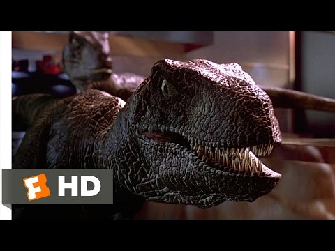 Raptors in the Kitchen Scene - Jurassic Park Movie (1993) - HD