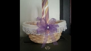 getlinkyoutube.com-DIY Flower Girl Basket (Affordable & Simple)
