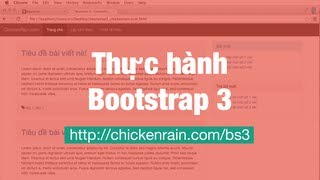 Học Bootstrap 3 Trực Tuyến: Thiết kế giao diện Website