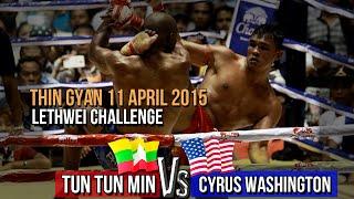 getlinkyoutube.com-Tun Tun Min Vs Cyrus (USA), Myanmar Lethwei Fight, 2015, Rematch, Lekkha Moun, Burmese Boxing