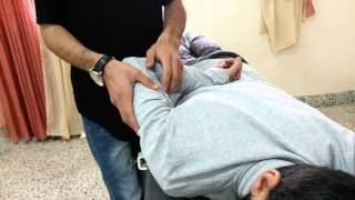 manual muscle test of rhomboid major and rhomboid minor