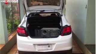 Caixa Trio Pioneer 400w com Modulo Taramps no Onix