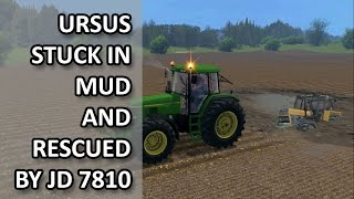 getlinkyoutube.com-Ursus stuck in MUD Poland Farming Simulator 15
