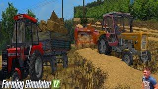 getlinkyoutube.com-Farming Simulator 17 - Pierwsze Polskie Prasowanie Belek - PIERWSZA TAKA AKCJA