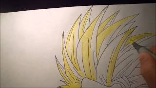 getlinkyoutube.com-How to draw Son-Gohan Ssj2 (Kamehameha)