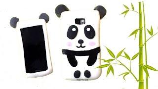 getlinkyoutube.com-Cómo hacer una FUNDA DE SILICONA para MÓVIL - Panda kawaii