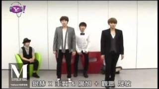 getlinkyoutube.com-[ENG] 110618 Eunhyuk teaching KyuWook Perfection Dance Moves w SJM @ Yahoo Music