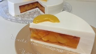 getlinkyoutube.com-Gelatina de 3 Leches rellena de duraznos/Tres Leches JELLO with Peaches - DESDE MI COCINA by Lizzy