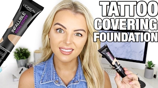DOES IT WORK?! LOREAL INFALLIBLE 'TATTOO COVERING' FOUNDATION! DEMO & REVIEW