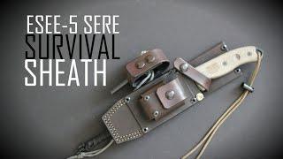 getlinkyoutube.com-ESEE-5 SERE Survival Sheath- Wolfwind Leatherworks- Black Scout Reviews