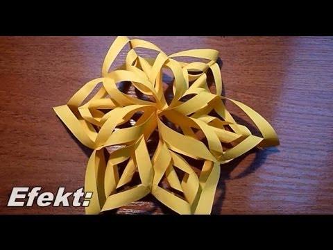 Ozdoby świąteczne - Jak zrobić gwiazdę z papieru - Wikd102