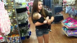 getlinkyoutube.com-at walmart with Ella and Memphis