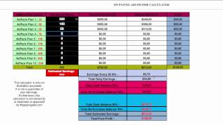 getlinkyoutube.com-MPA calculator tutorial, my paying ads income