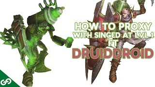 getlinkyoutube.com-How to Proxy with Singed at LvL 1 ft Druiddroid - Double Proxy in base at LvL 4