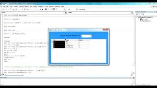 Visual Basic 6.0: How to show data in DataGrid Control 6.0 width=