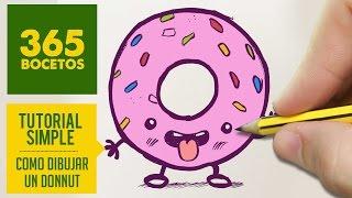 getlinkyoutube.com-COMO DIBUJAR UN DONUT KAWAII PASO A PASO - Dibujos kawaii faciles - How to draw a donut