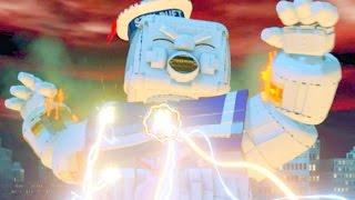getlinkyoutube.com-Ghostbusters 1984 Level Pack Part 3 Abby Yates Defeats Gozer & Marshmallow Man - LEGO Dimensions