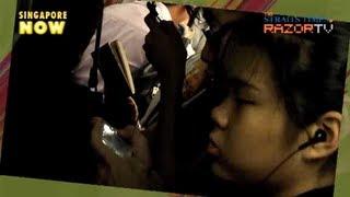 getlinkyoutube.com-Sexual harassment on the MRT (Perverts on the MRT Pt 1)