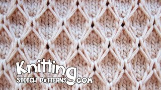 getlinkyoutube.com-Diamond Mesh stitch