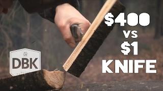 getlinkyoutube.com-1$,- Knife VS $400,- Knife // A Battle To The Death