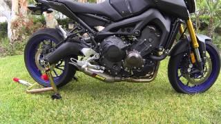 getlinkyoutube.com-Yamaha FZ09 Akrapovic Full Titanium System