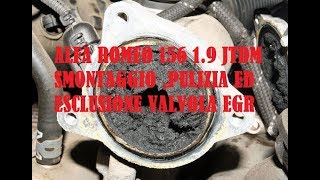 getlinkyoutube.com-Smontaggio,pulizia ed esclusione EGR su 156 1 9 JTDm 16v