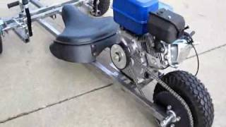 Three dog reverse trike motorized go kart test footage
