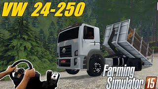 getlinkyoutube.com-FARMING SIMULATOR 2015 - VW 24-250 CARREGANDO MADEIRA, VOLANTE G27!!!!