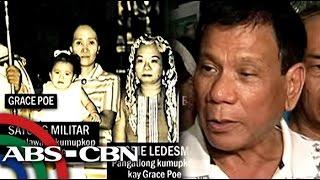 getlinkyoutube.com-TV Patrol: Ama ni Senador Grace Poe; Duterte itinangging pakana niya ang advocacy campaign