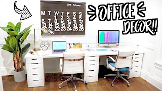 NEW OFFICE ROOM DECOR!! Moving Vlogs!!