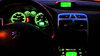 getlinkyoutube.com-Peugeot 307sw panel lightning restyling to RGB LED