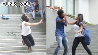 getlinkyoutube.com-Girl Slaps a Guy for a Prank (Insect/Snake Prank) Funk You (Pranks In India)