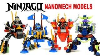getlinkyoutube.com-LEGO Ninjago NanoMech Models KnockOff Building Set 2 w/ Kai Cole Jay & Ghost Cowler