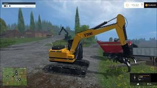 getlinkyoutube.com-Farming simulator 2015  Big wood chipper