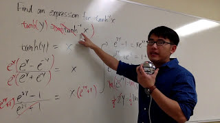 Find an expression for inverse tanh(x)