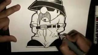 getlinkyoutube.com-Skull Camp -Drawing Oldschool Cholo Character.