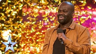 Daliso Chaponda gives Amanda the golden giggles   Auditions Week 3   Britain's Got Talent 2017