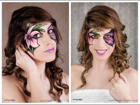 Maquillaje Fantasía | Mariposa y flor (Butterfly & Flower Fantasy Makeup)
