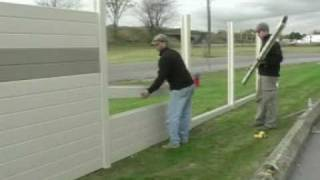 getlinkyoutube.com-Tuf-Barrier Noise Barrier Wall Install - Residential