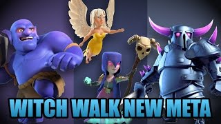 Mass Witch Walk Combined With Pekka, Bowlers Strategy | 3 Starring Almost TH9 | Clash Of Clans