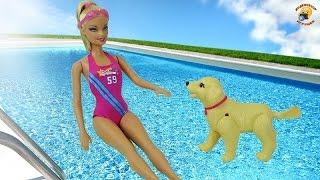 Барби с собачкой – Чемпионы по плаванию! Серия Barbie «I can be» Mattel. Play set